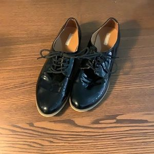 Cooperative Black Patent Leather Loafers